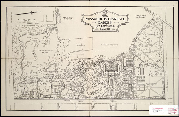 Image of Map of the Missouri Botanical Garden in 1917.