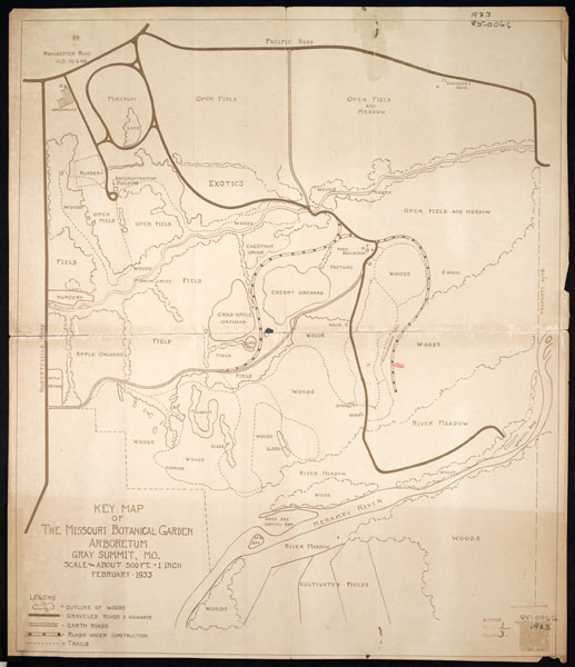Image of Arboretum (Gray Summit), key map dated Feb., 1933; surveyor unknown.