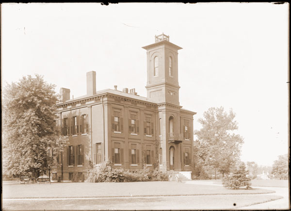 Image of Tower Grove House.  View is to the west.  PRINT AVAILABLE -- SEE PHO 1982-0152.
