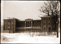 Image of Administration Building after addition.  View from street. 1- 5x7 in. print.
