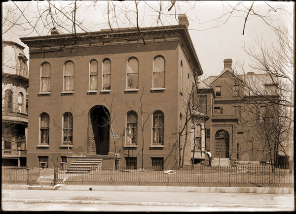Image of View of front of building where George Engelmann's home.  From the Swekosky Photo Collection, School Sisters Of Notre Dame.  PRINT AVAILABLE -- SEE PHO 1982-0211 and PHO 2006-0029.