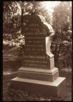 Image of Dr. Engelmann's tombstone in Bellefontaine Cemetery.  Mounted on board.  (His name is spelled incorrectly).  PRINT AVAILABLE -- SEE PHO 1982-0212.