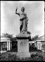 Image of Statue of 'Juno' in Italian Garden.