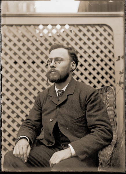 Image of Dr. William Trelease at summer house, better known as Tower Grove House.