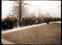Image of Chrysanthemum Show. People waiting to enter show in 1920.