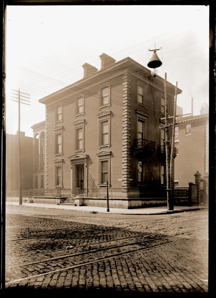 Image of Henry Shaw's Townhouse located at 7th & Locust just before removal in 1891 to the Missouri Botanical Garden at 2315 Tower Grove Avenue.  Similar to GPN 1982-0356. PRINTS AVAILABLE -- SEE PHO 1982-0357.