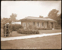 Image of Experimental Greenhouse located southeast of Tower Grove House.  Print available at PHO 2006-0927.