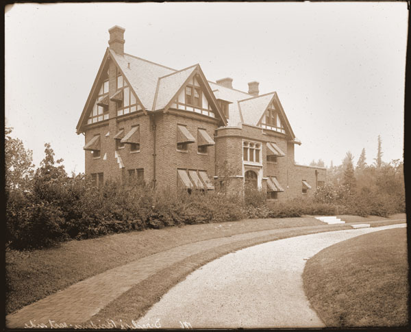 Image of Frontal view of the Director's Residence looking to the north-west.  PRINT AVAILABLE -- SEE PHO 1982-0038 and PHO 2005-0649.  Negative at PHO 2005-0650.