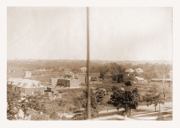 Image of Aerial view of Tower Grove Park taken from Tower Grove House, c.1902.