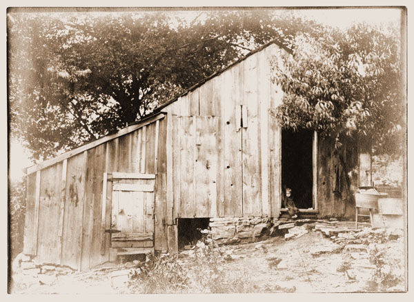 Image of View of August Fendler's home, near Allentown, Missouri.