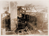 Image of Set of three prints from c. 1902 Fire at Greenhouse.