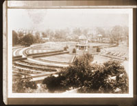 Image of MBG Herbaceous Garden -- part of a panoramic view of the garden shortly before it was removed and replaced.  Two prints; one 5x7 and one 4x5.  Copy Negative available.