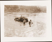 Image of Scene from the Colombian Expedition, c.1923.  Rafting down the Magdalene en route to uppermost navigatable port Giradot, Colombia.