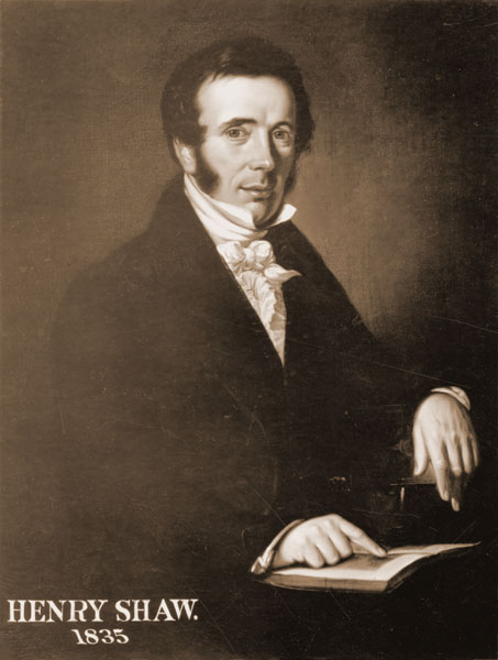 Image of Photographic reproduction of painting of Henry Shaw, 1835.