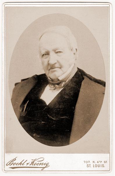 Image of Portrait card of Henry Shaw, c.1887?  Boehl & Koenig photographers.