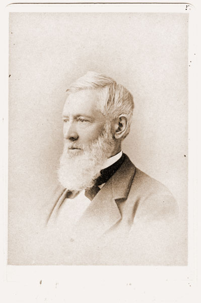 Image of Portrait card of Asa Gray late in life.