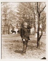 Image of James Gurney - Head Gardener under Henry Shaw standing in the Arboretum