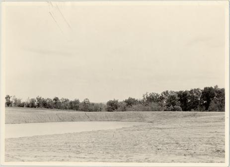 Image of Arboretum (Gray Summit) Lake at Gray Summit Arboretum before planting. Duplicate.