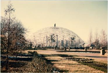 Image of Climatron Construction.  Picture taken Nov. 29, 1959