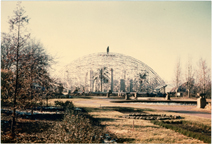 Image of Climatron Construction.  Picture taken Nov. 29, 1959