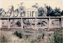 Image of Climatron Construction.  Rear of Climatron - former Italian Garden.  Picture taken Sept. 26, 1959.