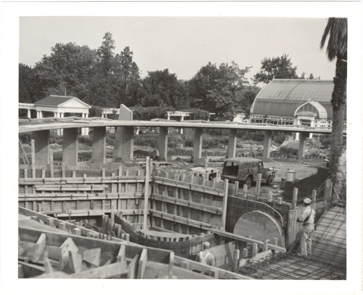 Image of Climatron Construction.