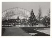 Image of Climatron Exterior. Christmas