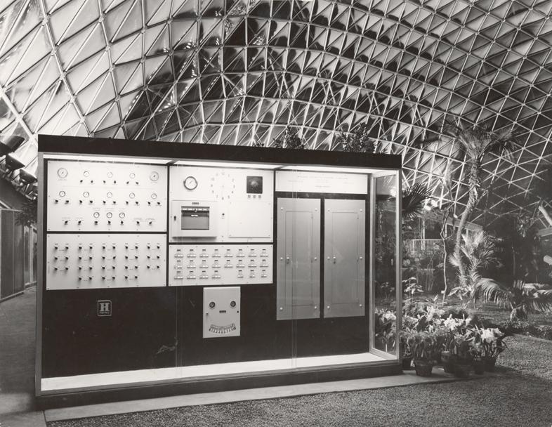 Image of Climatron Interior I - Honeywell climate control.  Murphy & Mackey, Architects.