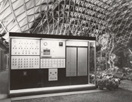 Image of Climatron Interior I - Honeywell climate control.  Murphy & Mackey, Architects.