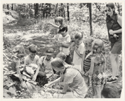 Image of Education 1970's.  Group outdoors.