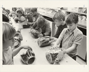 Image of Magent School Program 11-18-76.  Terrariums.  MBG Bull. 65(1):5 (Jan. 1977)