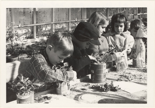 Image of Children's Sat[urday] Nat[ure] class.  Jan. 1969
