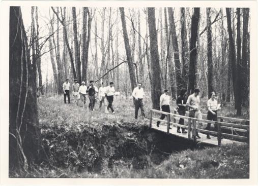 Image of Engelmann Botanical Club.  April 1971.  Arboretum