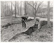 Image of English Woodland Garden.  L-R  John Elsley, Brian Ward.  Mar 21, 1975/
