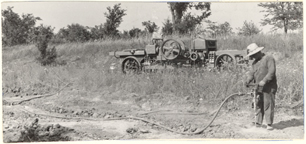 Image of Equipment.  Drilling holes for dynamiting.  From