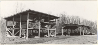 Image of Equipment.  Sawmill and lumber shed.  From