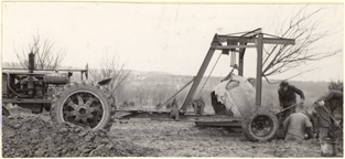 Image of Equipment.  Tree mover with 2 1/2 ton crabapple.  From