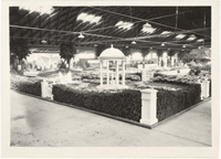 Image of Missouri Botanical Garden exhibit in 14th National Flower Show.  Arena, 5700 Oakland Ave, St. Louis, Mo.  March 26-April 2, 1933.  Mounted with PHO 2006-0412.