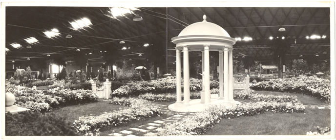 Image of Formal Azalea Garden covering 2400 sq. ft. at Fourteenth National Flower & Garden Show.  Arena, March 25-April 2, 1933