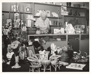 Image of Merchandise and staff circa 1966.  Same as PHO 2006-0777.