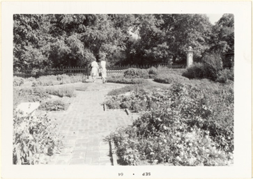 Image of Herb Garden, Tower Grove House.  Mounted with PHO 2006-0968, PHO 2006-0969, PHO 2006-0970.