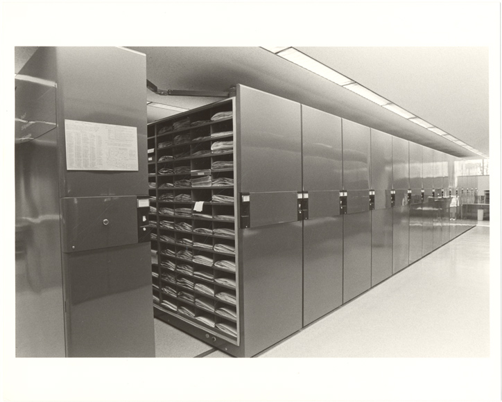 Image of Compact shelves.  Herbarium.