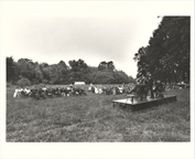 Image of Japanese Garden groundbreaking ceremony at the site.  MBG Bulletin, Vol 63, No. 9, 1974.