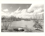 Image of Japanese Garden.  Day lake was filled.