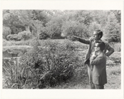 Image of Japanese Garden.  Dr. Peter Raven and Koichi Kawana.