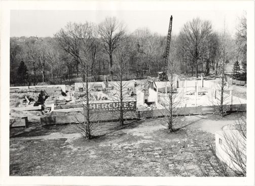 Image of John S. Lehmann Building Construction.  Gift of Walter Lewis 12/7/1987.