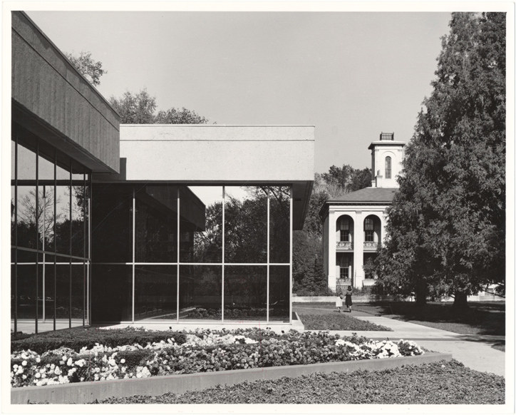 Image of John S. Lehmann Building.  Exterior with Tower Grove House in background.