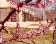 Image of John S. Lehmann Building.  Exterior.  Education wing (greenhouses).