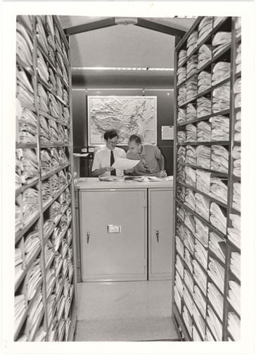 Image of John S. Lehmann Building.  Herbarium stacks.
