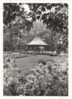 Image of Gazebo, Anne L. Lehmann Rose Garden.  View from the rose garden.